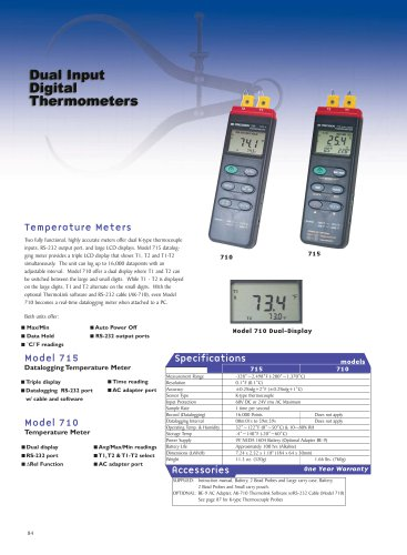 Dual Input Thermometer