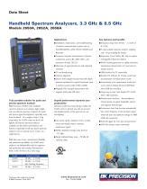 Handheld Spectrum Analyzers, 3.3 GHz & 8.5 GHz Models 2650A, 2652A, 2658A