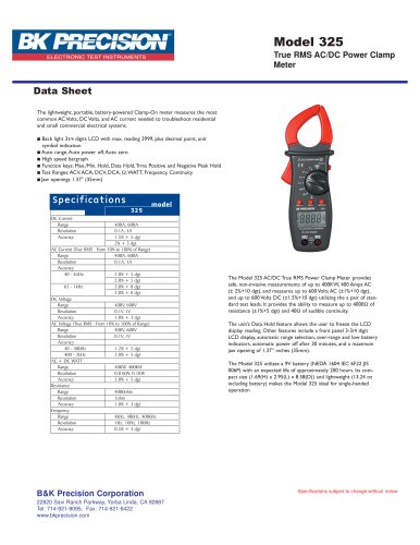 True RMS AC/DC Power Clamp Meter