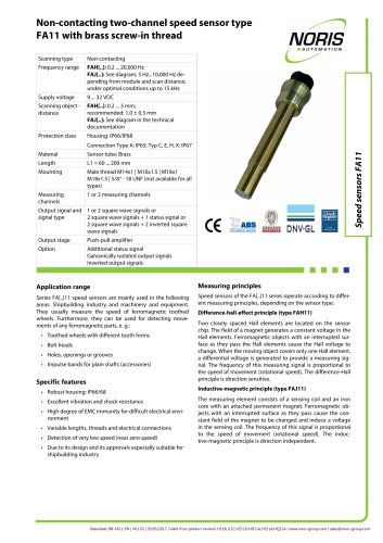 Datasheet FA11