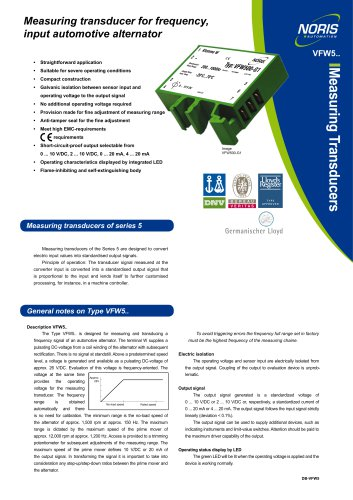 Datasheet VFW5