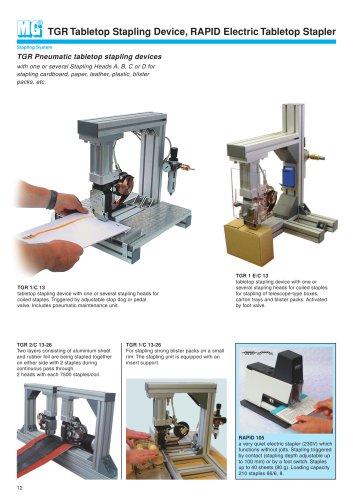 TGR Tabletop Stapling Device, RAPID Electric Tabletop Stapler