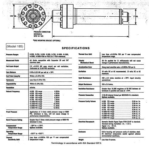 Discontinued Transducer Models Model 185