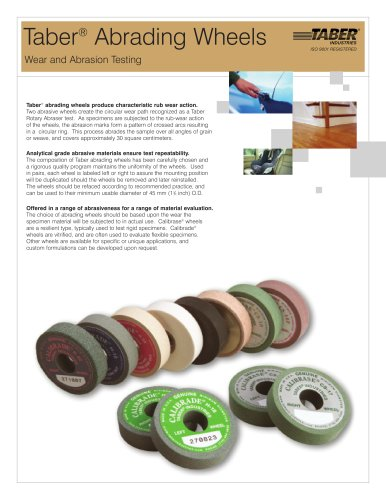 TABER Abrading Wheels (for Taber Abraser)