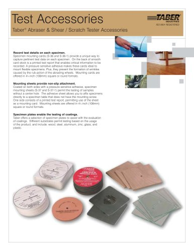 TABER Test Accessories (for Taber Abraser)
