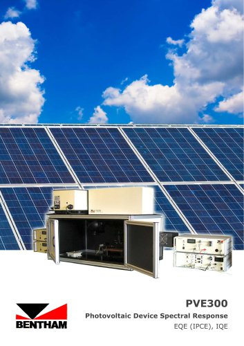 PVE300  Photovoltaic Device Spectral Response
