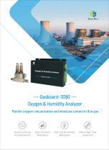 Flue Gas Humidity & Oxygen Analyzer Gasboard-3050