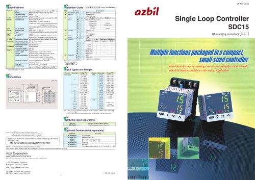 Single Loop Controller  SDC15