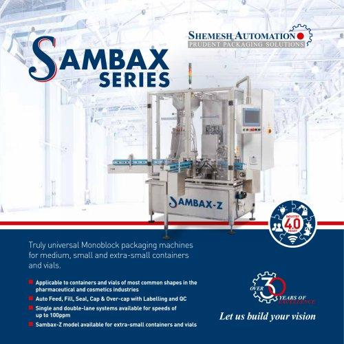 SAMBAX SERIES  Monoblock packaging machine for vials.
