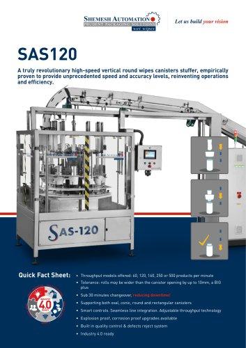 SAS120 WIPES CANISTER LOADER