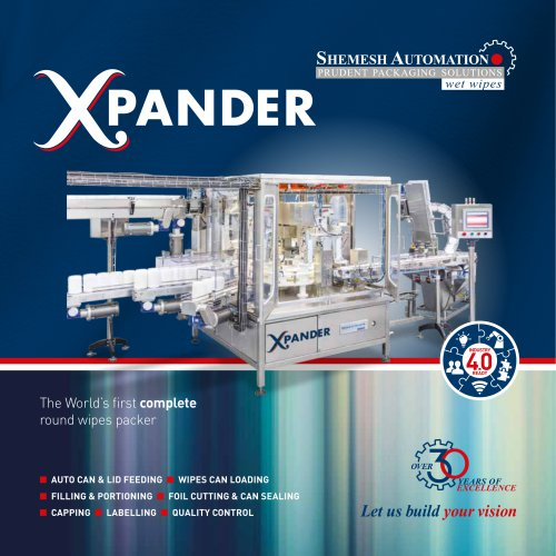 """""""Xpander"""" Complete hands-free monoblock for round wipes in canisters"""