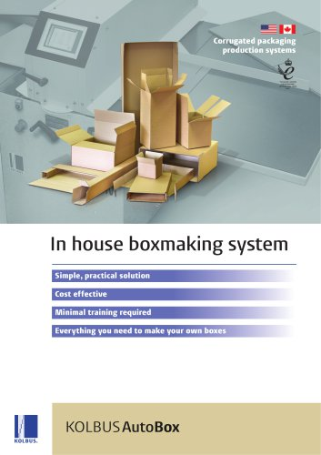 In house boxmaking system