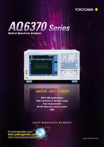 AQ6370 series Optical Spectrum Analyzer