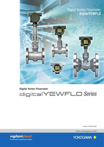 Digital Vortex Flowmeter digitalYEWFLO Series (416KB)