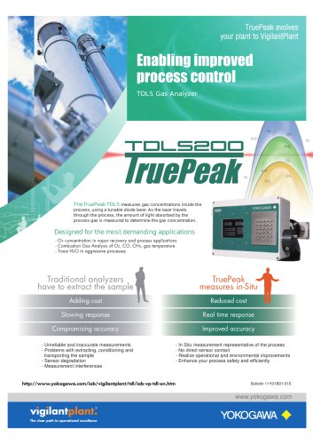 Enabling improved process control TDLS Gas Analyzer