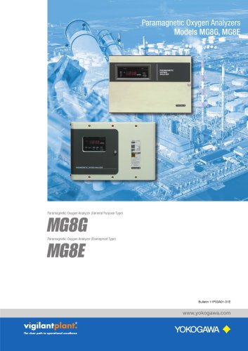 MG8G,MG8E Paramagnetic Oxygen Analyzers