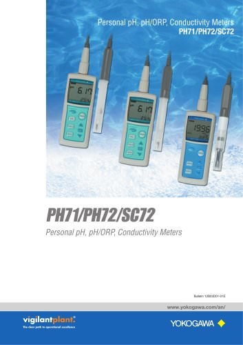 Personal pH, pH/ORP, Conductivity Meters