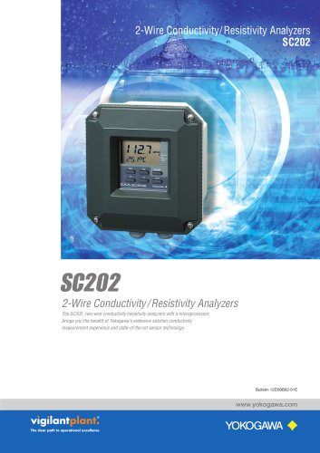 SC202 2-Wire Conductivity/Resistivity Analyzer