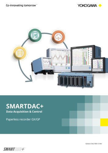 SMARTDAC+ Data Acquisition & Control Paperless Recorder GX/GP