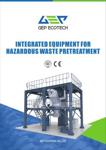 GV series tower type industrial hazardous waste shredding system