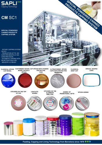 9 CM SC1 SPECIAL POWDERED CANNED PRODUCTS CAPPING SYSTEM  eng