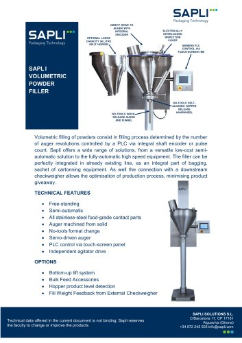 Volumetric and Gravimetric Filler