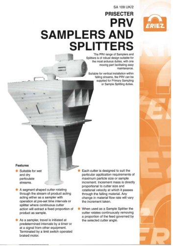 PRV Samplers and Splitters