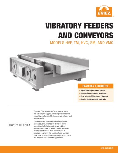 VIBRATORY FEEDERS AND CONVEYORS