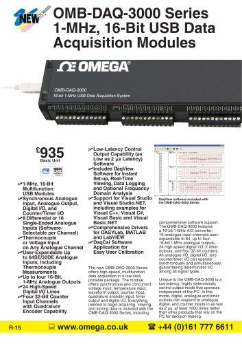 1-MHz, 16-Bit USB Data Acquistion Modules  OMB-DAQ-3000, OMB-DAQ-3001 and OMB-DAQ-3005
