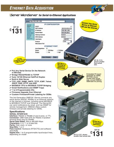 10/100 Mbps MicroServer EIT-W