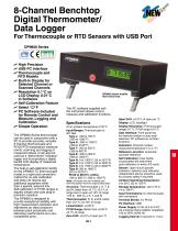 8-Channel Benchtop Digital Thermometer/ Data Logger