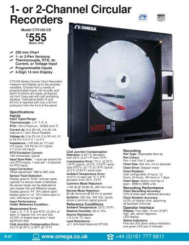 Circular Chart Recorders  CT5100 Series