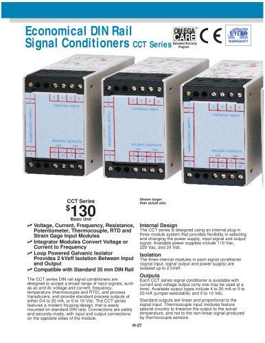 Economical DIN Rail Signal Conditioners CCT Series