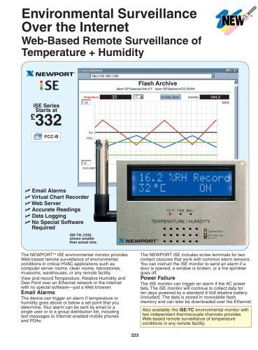 Ethernet/Internet Thermocouple Temperature Transmitter   iSE-TC