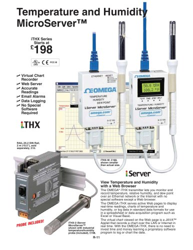 iServer Temperature + Humidity Ethernet Transmitter   iTHX-W and iTHX-M
