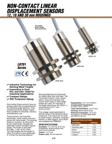 Linear Displacement Sensor, Non-Contact