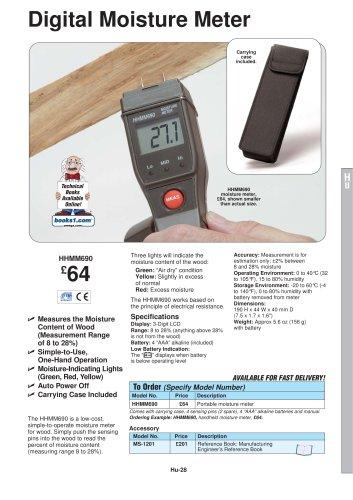 Low Cost Digital Moisture Meter HHMM690