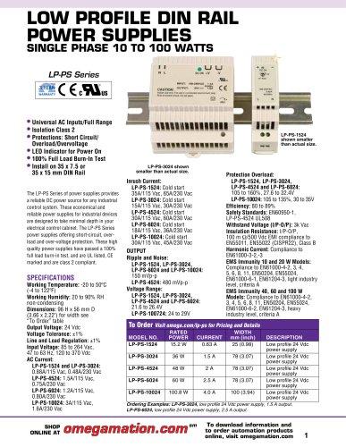 LP-PS Series Power Supplies