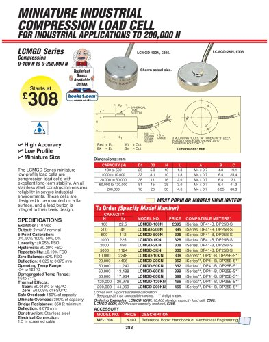 Miniature Button Style Compression Load Cell