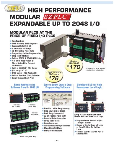 MODULAR PLCS AT THE PRICE OF FIXED I/O PLCS