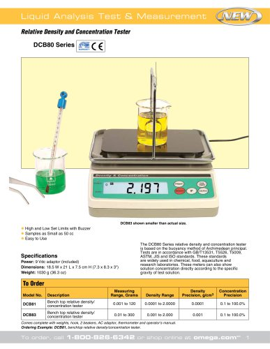 Relative Density and Concentration Tester