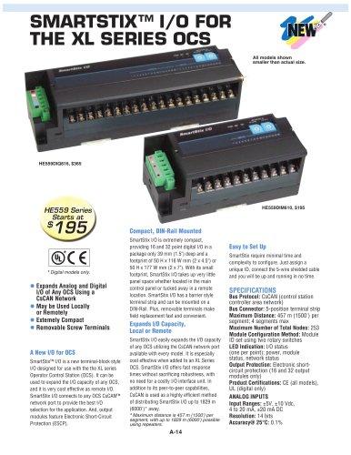 SmartStix™ I/O for the XL Series OCS