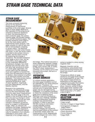 Strain Gauge Specifications