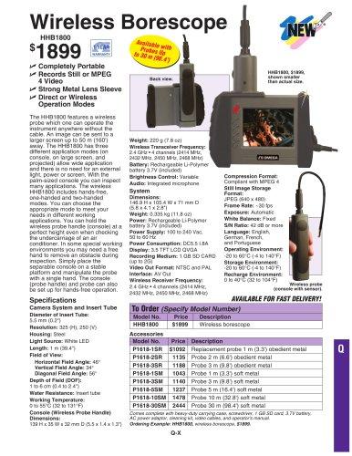 Wireless bore scope HHB1800