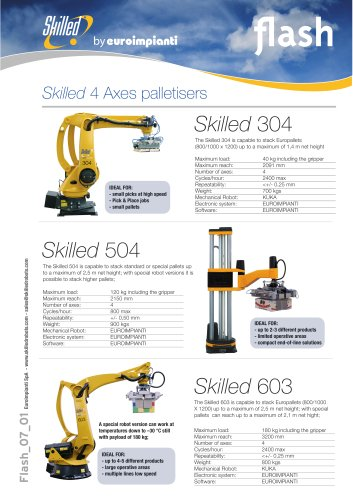 Skilled 4 Axes palletisers