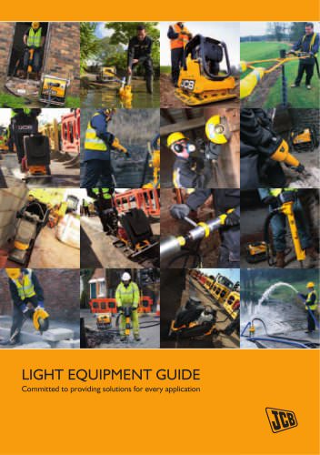 JCB Light Equipment range brochure