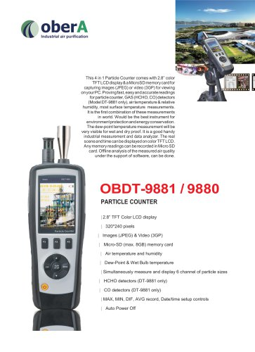 OBDT-9881 / 9880 PARTICLE COUNTER