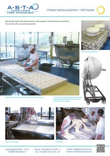 Cheese making equipment – Soft cheese