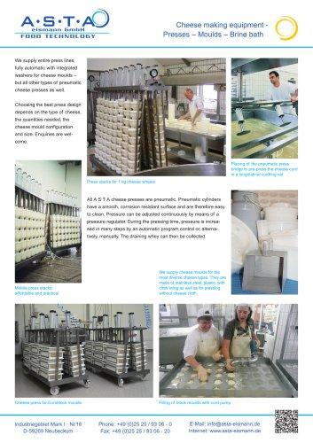 Presses-moulds-Brine bath