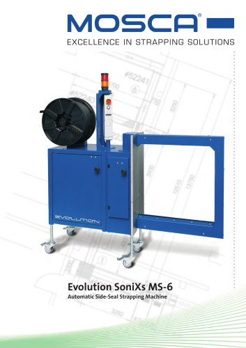 Evolution SoniXs MS-6 Automatic side-seal strapping machine